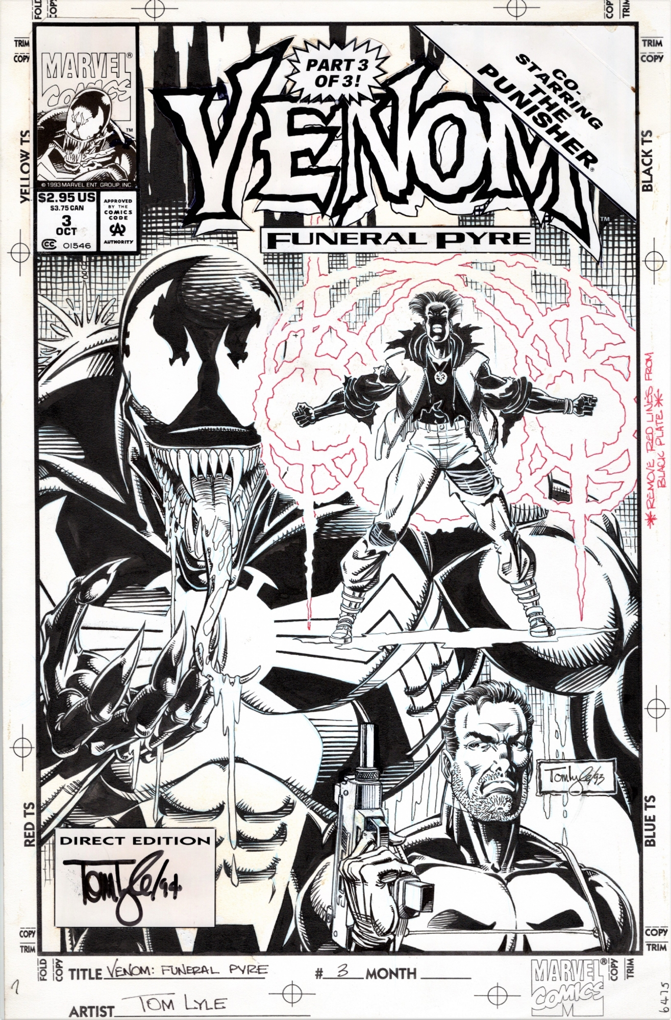 Venom: Funeral Pyre #3 COVER by Tom Lyle, 1993, in Paul P's