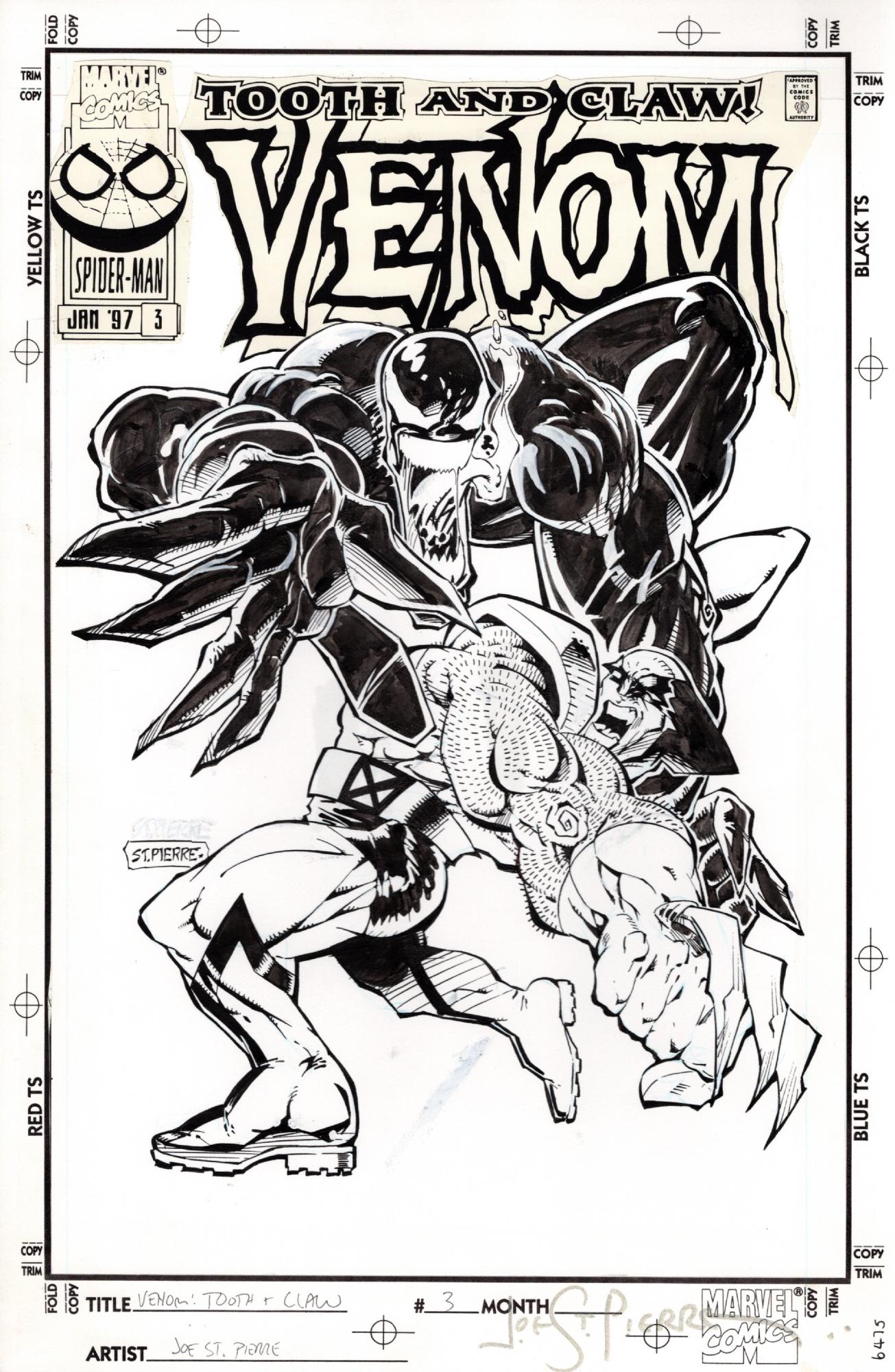 Venom: Tooth and Claw #3 COVER, 1997 -- VENOM vs WOLVERINE