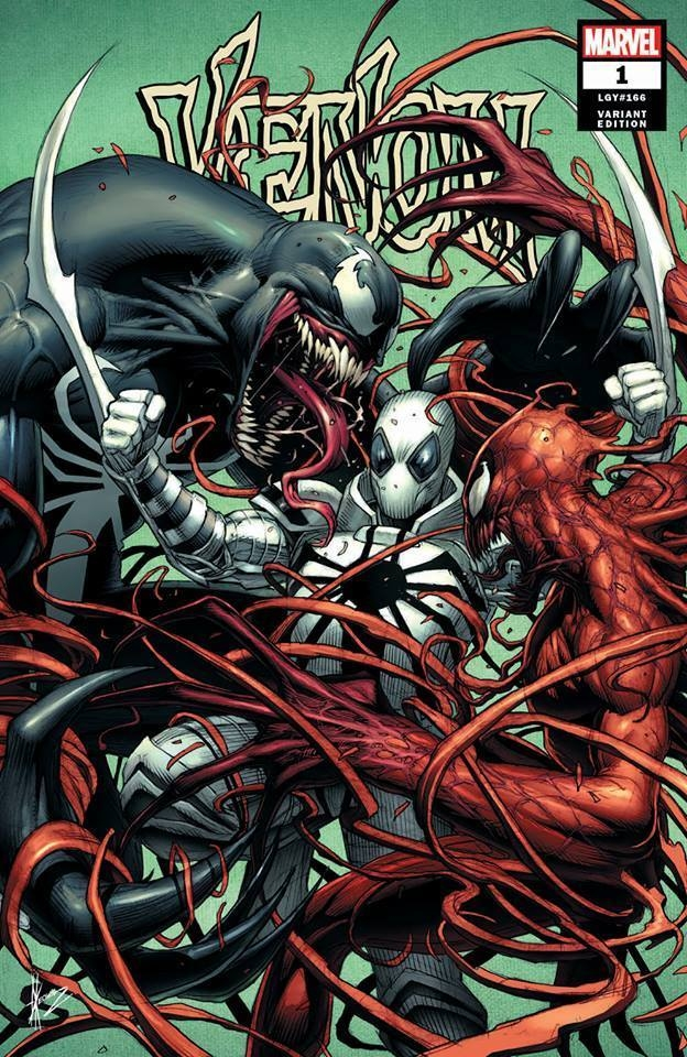 Venom #1 COVER by Dale Keown, 2018 -- Venom VS Anti-Venom ...