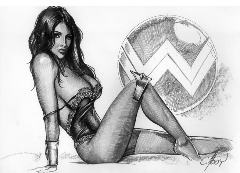 Wonder Woman Pin Up 3, In Paul Ps Commissionspinups -7635