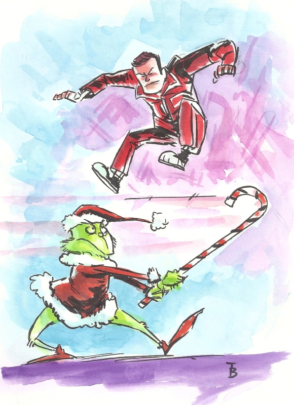 The Six Million Dollar Man Vs The Grinch By Thomas Boatwright Comic Art