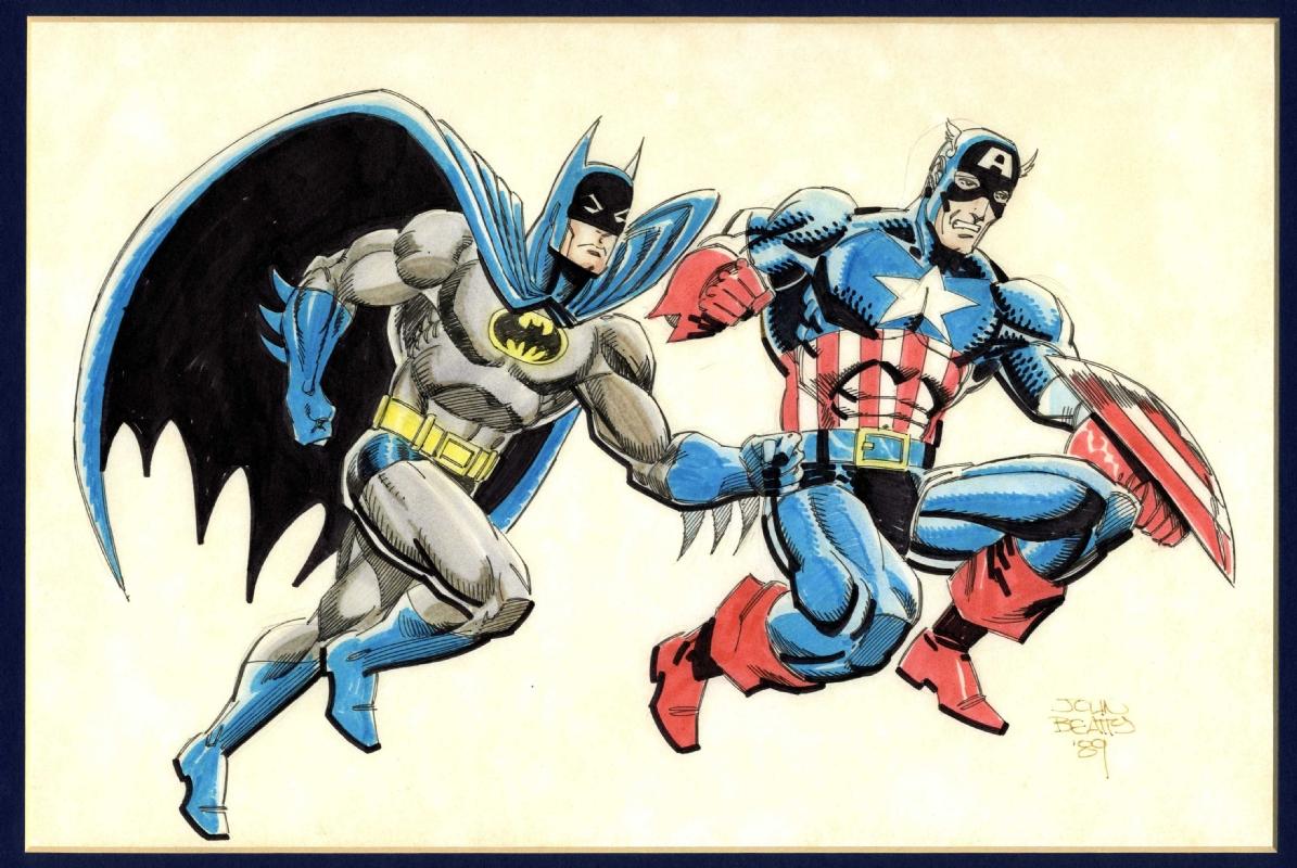batman captain america john beatty original in mike holman s