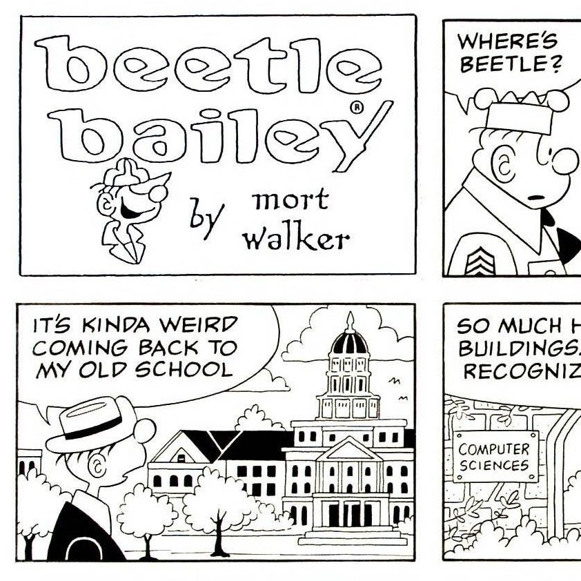 beetle bailey coloring pages - photo#14