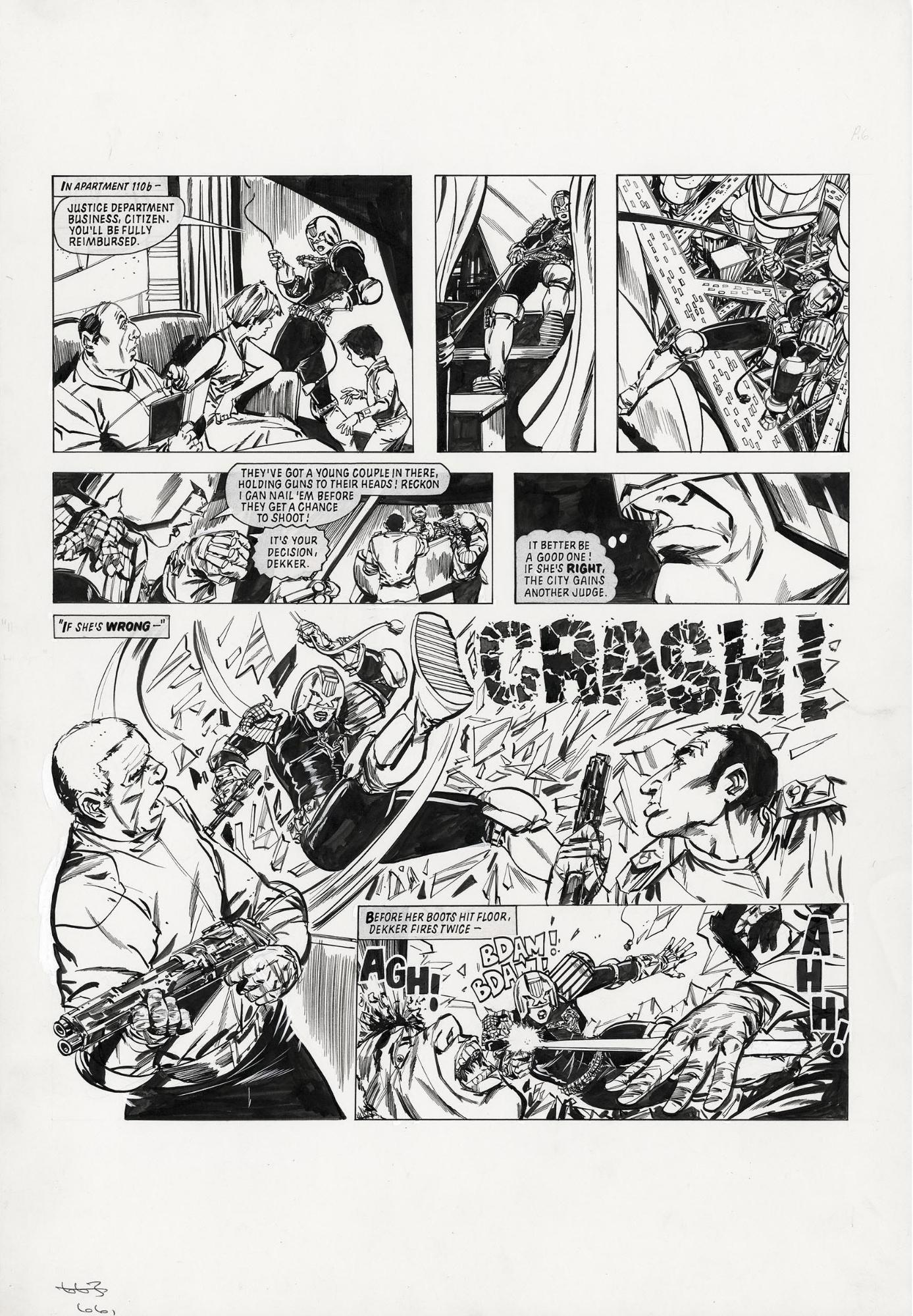 2000AD - Judge Dredd: The Making of a Judge pg 6 (Kim Raymond), in