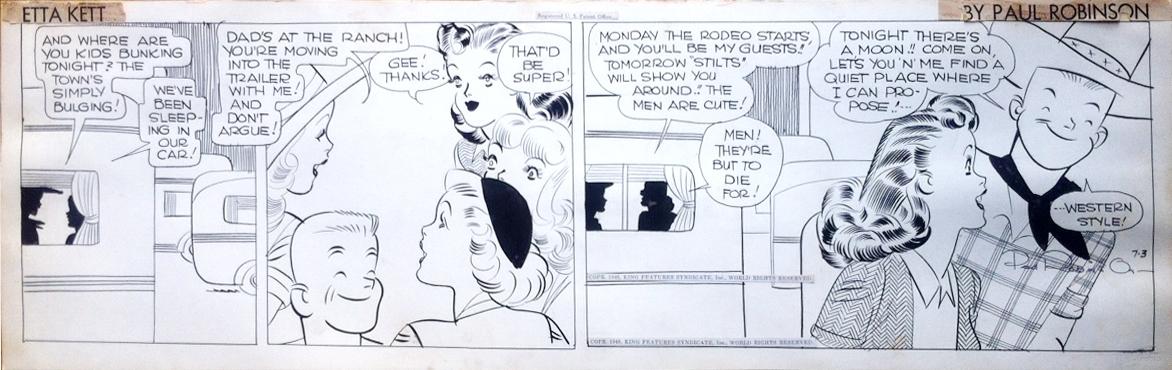 Etta Kett - Paul Robinson - 1948 Comic Art