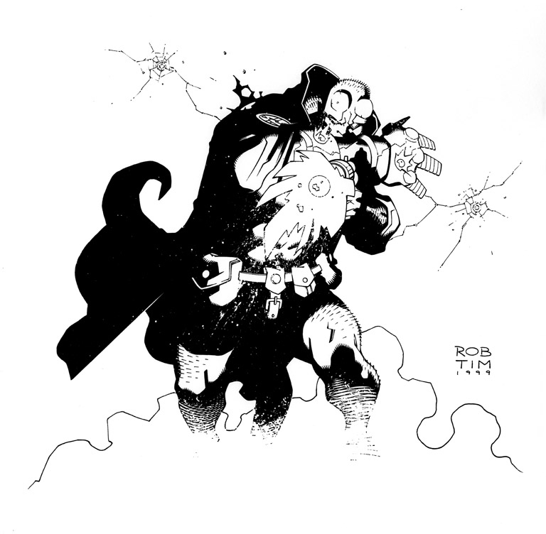 Hellboy Birthday Card Comic Art