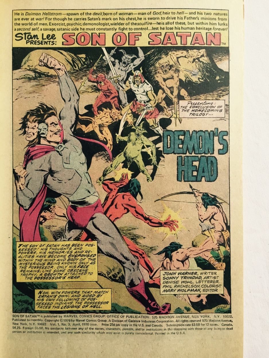 the son of satan # 3 - STAT color prototyp 1976, in red raven's