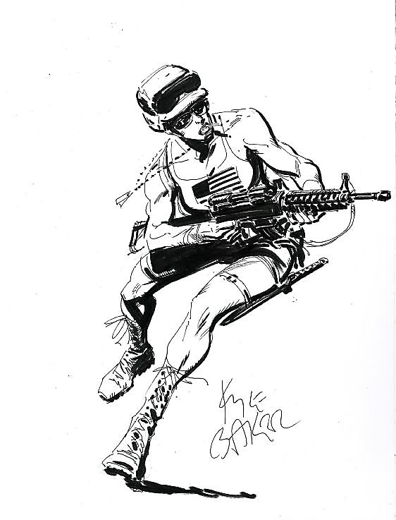Special Forces In Ronald Shepherds Commission Art Work Collection