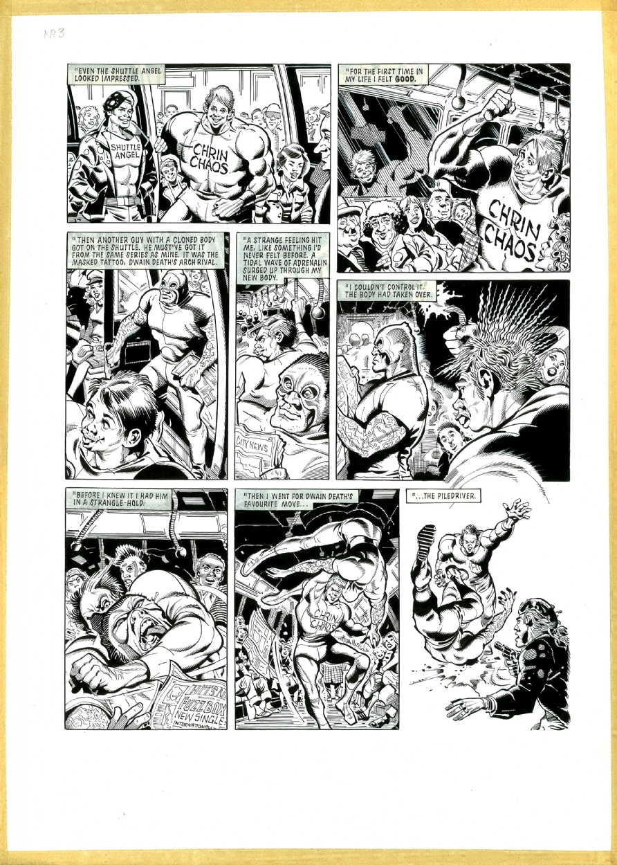 Tharg's Future Shocks: For A Body Like Dwayne Death's, Page 3, in