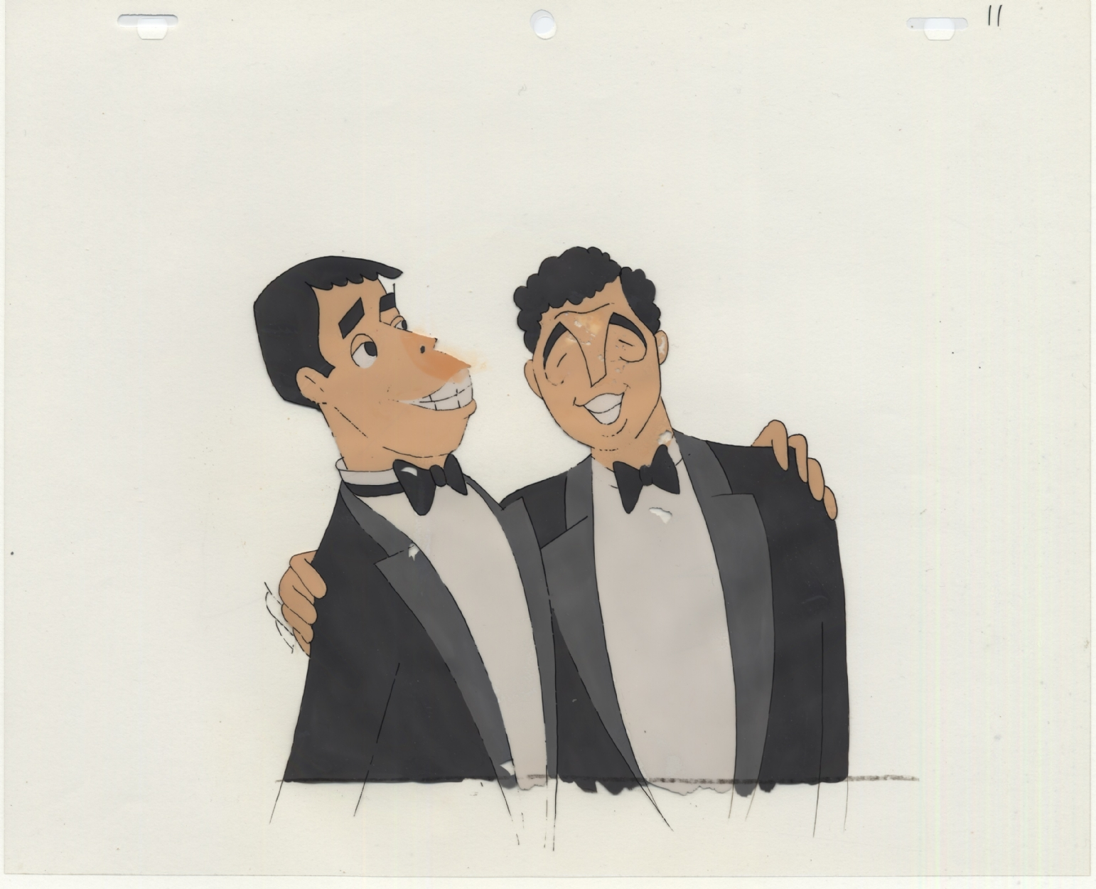 Dean Martin Jerry Lewis Popeye Animation Cel In Bill Morrison S