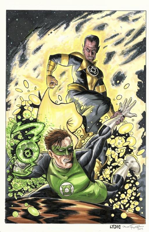 oryginalne buty kody kuponów najlepiej tanio Green Lantern Hal Jordan vs Sinestro by Andy Fish (11x17 ...