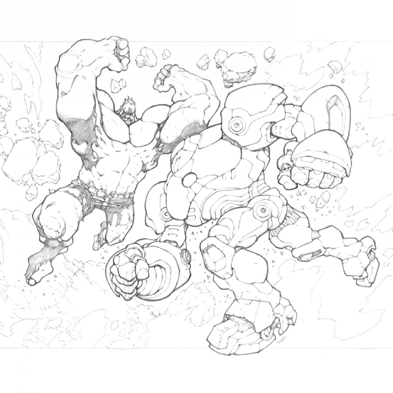 Hulk vs Hulk Buster Iron Man, in Terence Soet\'s Commissions/Random ...
