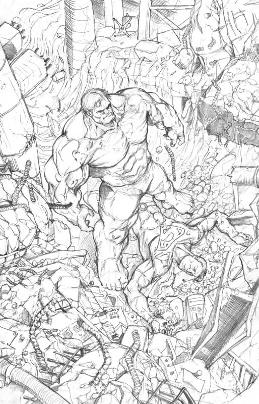Hulk destroys Superman Savy Lim, in savy lim's Savy Lim