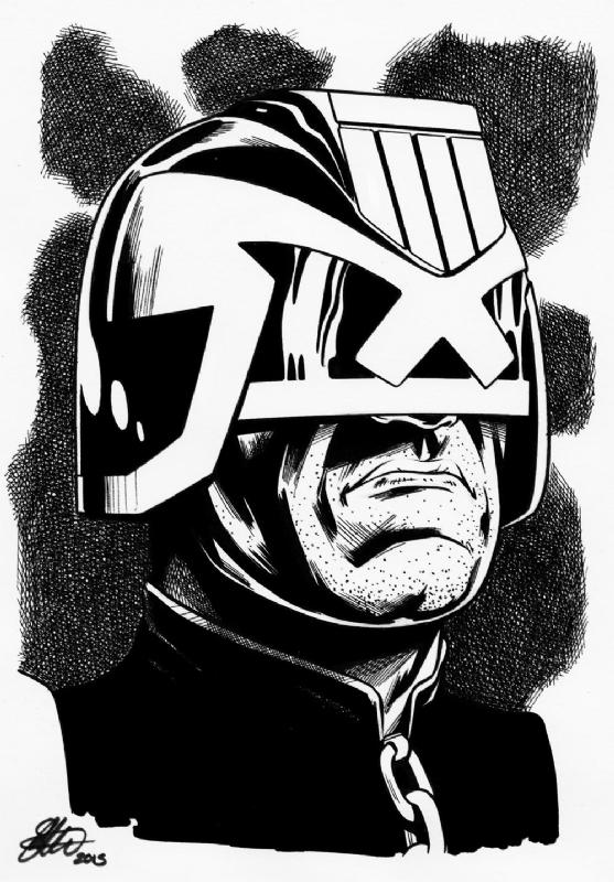 Judge Dredd A5 Art David Golding 2015 In David Goldings David