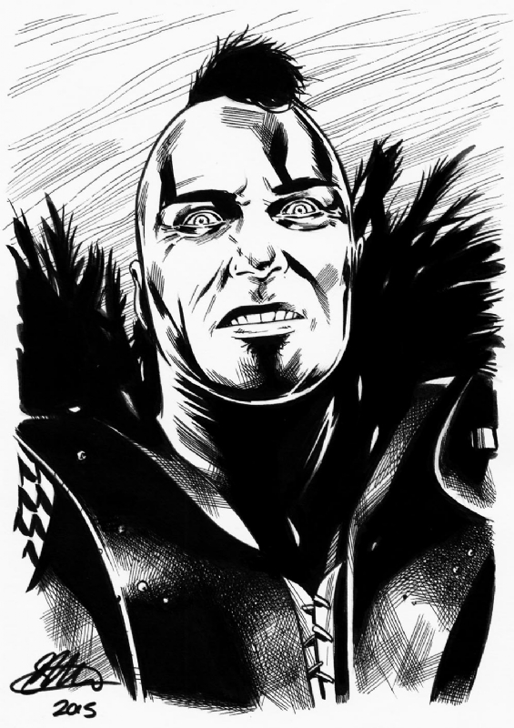 Mad Max 2 Wes A5 Commission David Golding 2015 In David Goldings