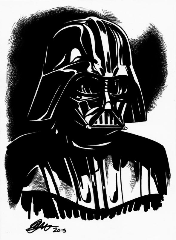 Star Wars Darth Vader A5 Art David Golding 2015 In David Goldings