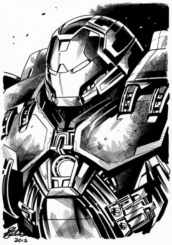 Hulk Buster Ironman Avengers Age Of Ultron A5 David Golding 2015