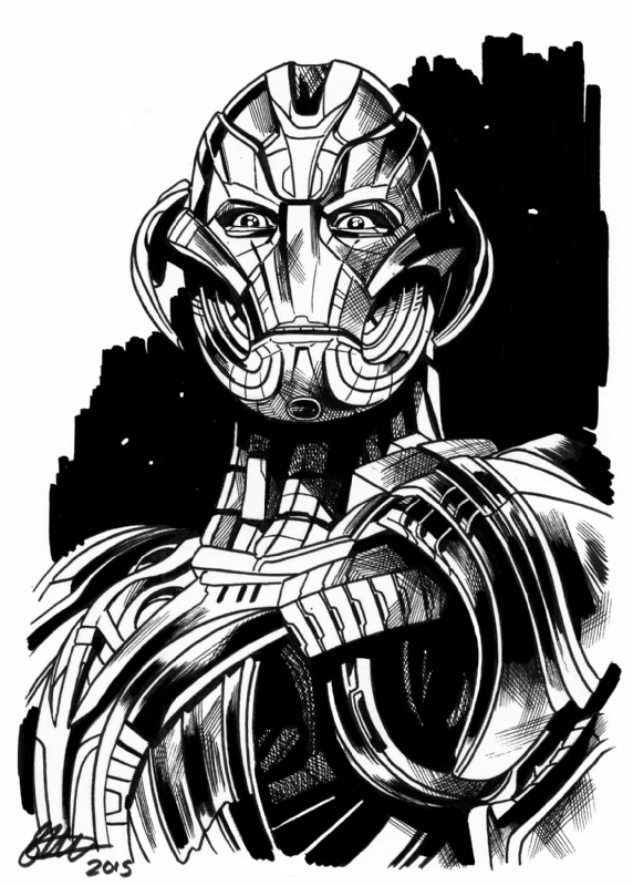 Avengers Age Of Ultron Ultron A5 Commission David Golding 2015 In