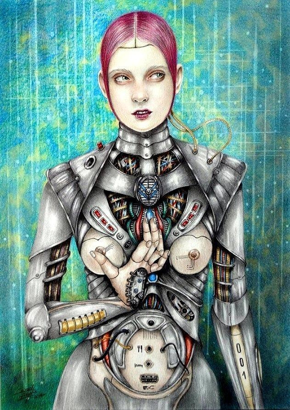 Sexy cyberpunk girl