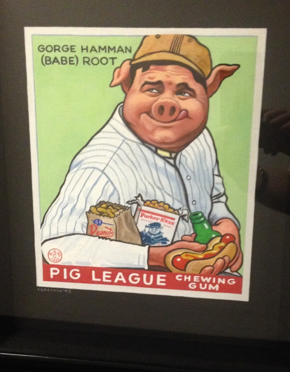 Babe Ruth 1933 Goudey Gum Baseball Card Parody In Michael