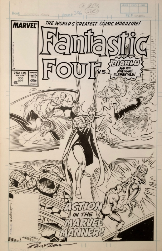 Fantastic Four 306 Cover - Ron Frenz, in Mark Tomlinson's