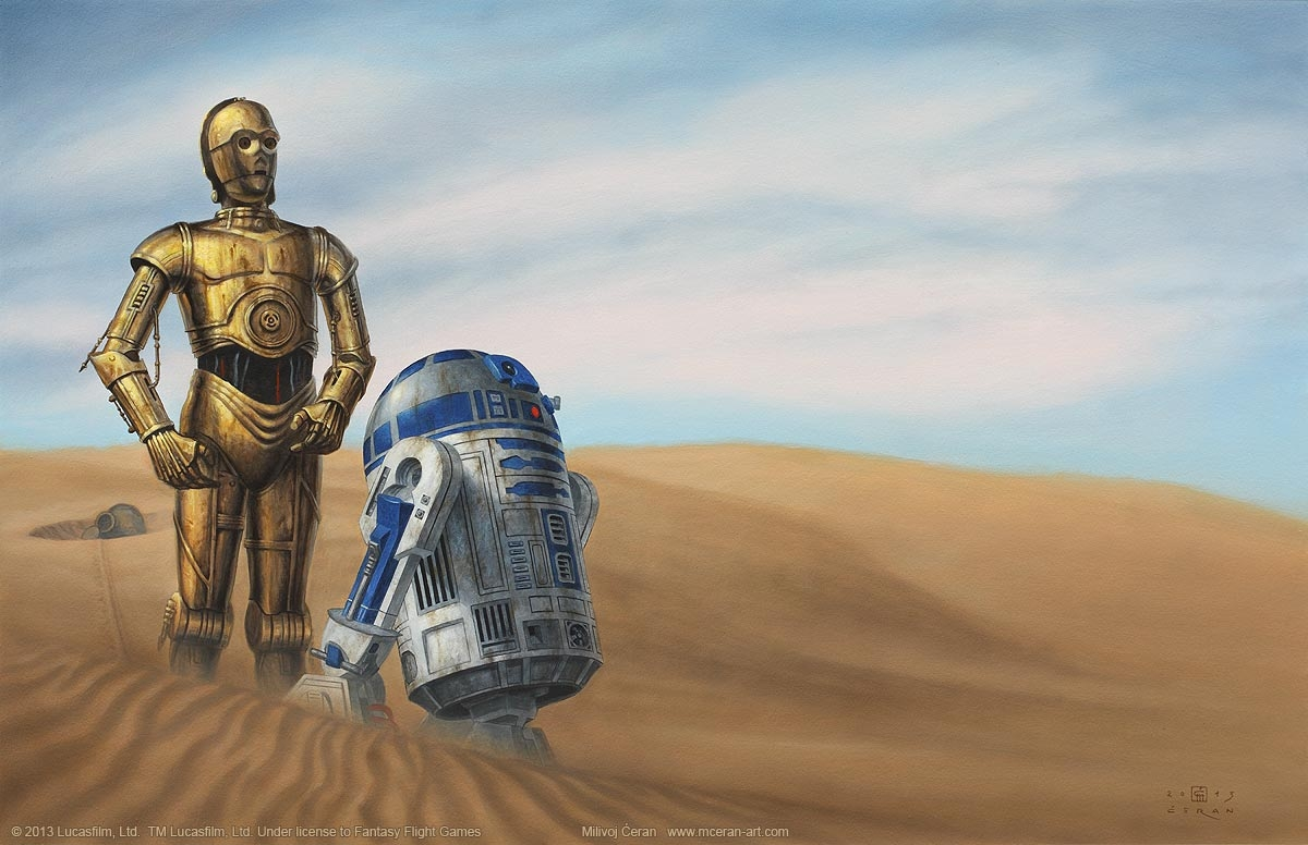 R2d2 And C3po Desert R2D2 & C3PO, in...