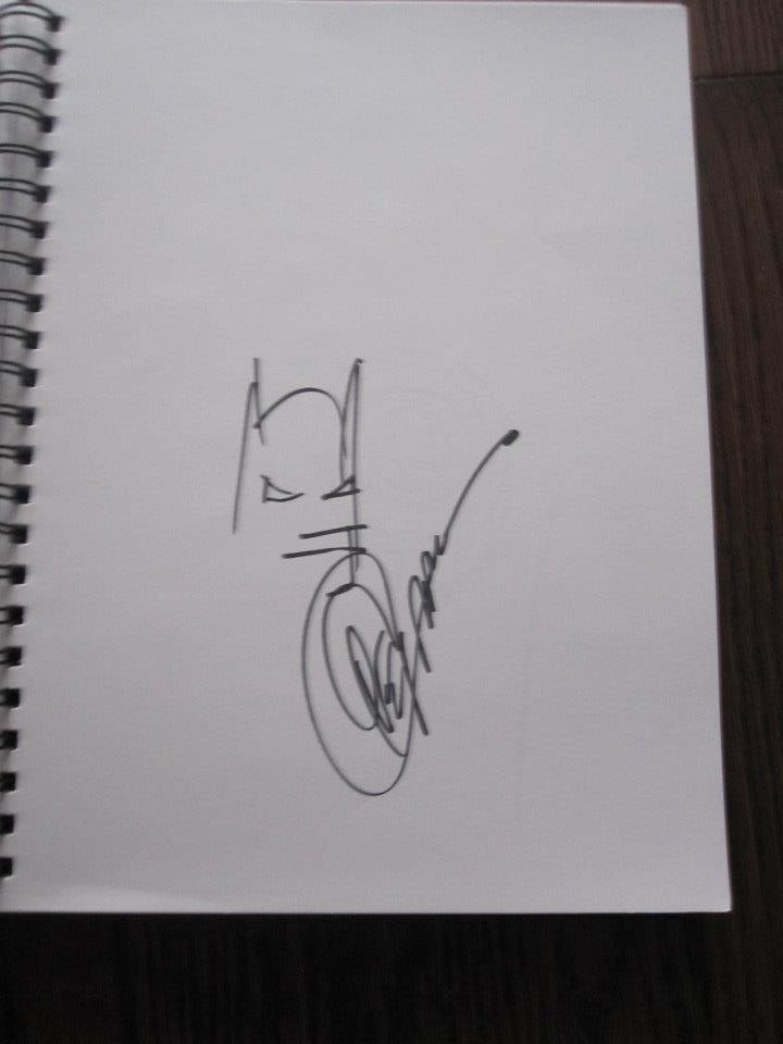Batman Doodle In Justin Lees Greg Capullo Comic Art Gallery Room