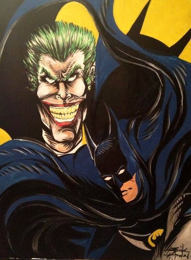 Batman Joker In Erik Angel S Mix Media Comic Art Gallery